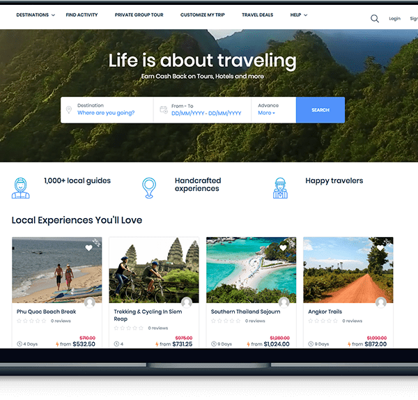 travel and tours - tripmazon Travel and Tours – Tripmazon banner web design tripmazon travel laptop 600x574