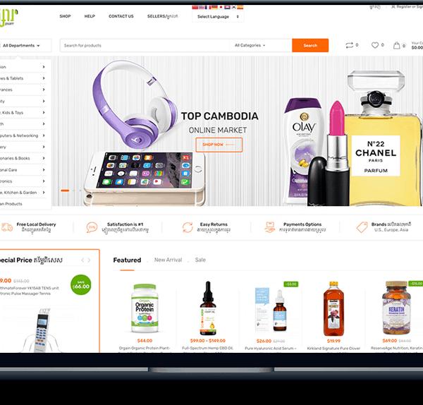 online store Cambodia Online Store banner web design psarr online store 600x574