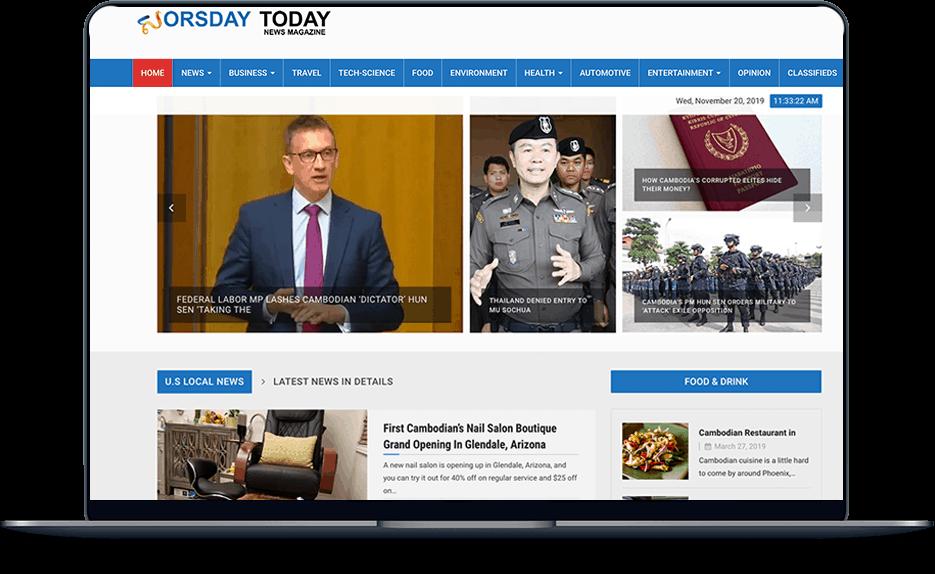 news News banner web design cambodia news laptop