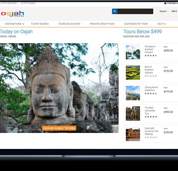 travel & tour Travel & Tour banner web design cheap asia tours osjah 600x574