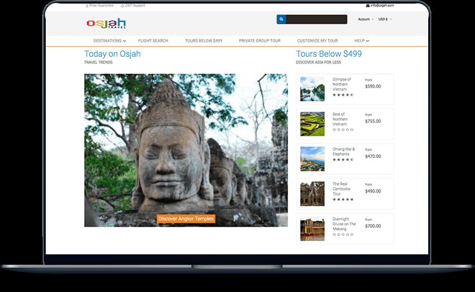travel & tour Travel & Tour banner web design cheap asia tours osjah