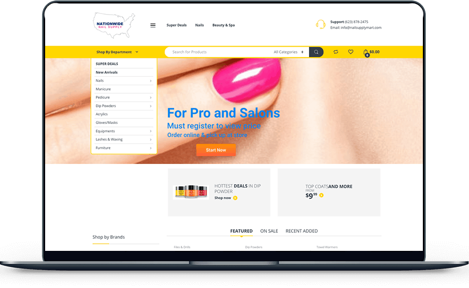 nationwide nail supply Nationwide Nail Supply banner web design nail supply sedona herb Sedona Herb banner web design nail supply