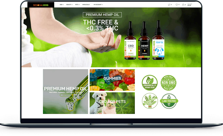 sedona herb Sedona Herb banner web design sedona herb laptop