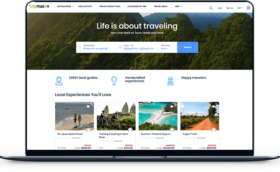 travel and tours - tripmazon Travel and Tours – Tripmazon banner web design tripmazon travel laptop